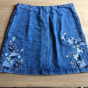 Top shop moto mini skirt